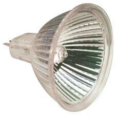 SYLVANIA TRU-AIM HALOGEN FLOOD LAMP, MR16, 50 WATT, GU5.3 BIPIN, UV FILTER, DICHROIC, 60 DEG. BEAM A