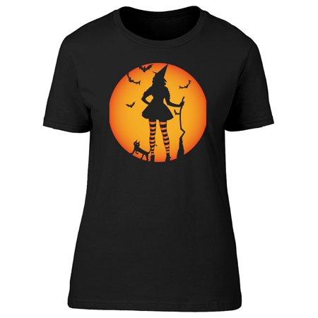 Cool Halloween Witch Doodle Tee Women's -Image by Shutterstock (Cool Halloween Doodles)