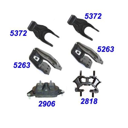 For: 2006-2011 Chevrolet Impala/ Monte Carlo 3.5L Engine Motor & Trans. Mount Set 6PCS 06 07 08 09 10 11 MK2818 MK5372 MK5372 MK2906 MK5263 MK5263 (Chevrolet Monte Carlo Weatherstripping)