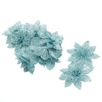 Unique Bargains Party Christmas Glitter Hanging Ornaments Wreaths Flower