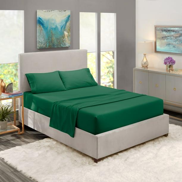 Full Size Bed Sheets Set Hunter Green Luxury Bedding Sheets Set