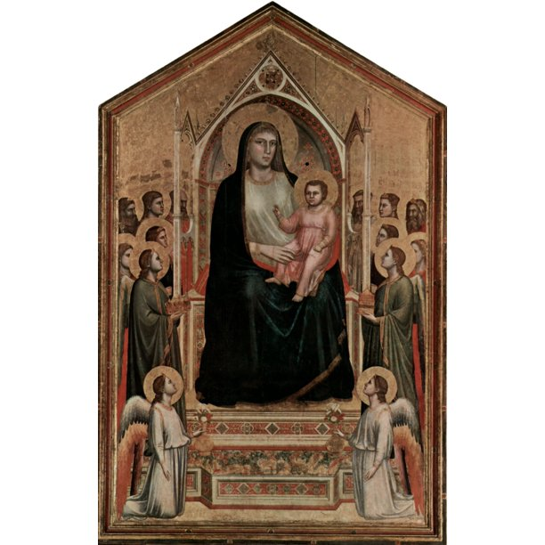 Laminated Poster Giotto di Bondone - Enthroned Virgin and ...