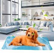 Dog Cooling Mat Summer Dog Cooling Mat Large Size Pet Sofa Cushion Cooling Mat Dog & Cat Travel Camping Sleeping Mats Washable Non Toxic Ice Silk MatL/XL