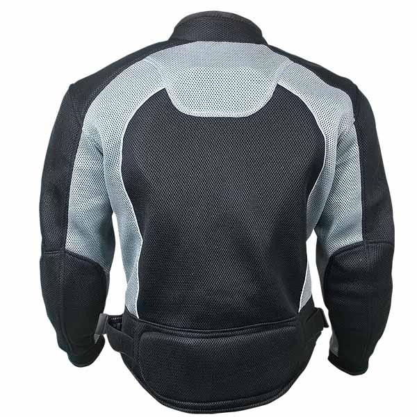 Xelement CF511 Mens Black Mesh Sports Jacket with X-Armor Protection Large