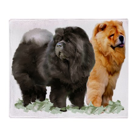 3e4bf42c30b8 CafePress - Red And Black Chows - Soft Fleece Throw Blanket, 50