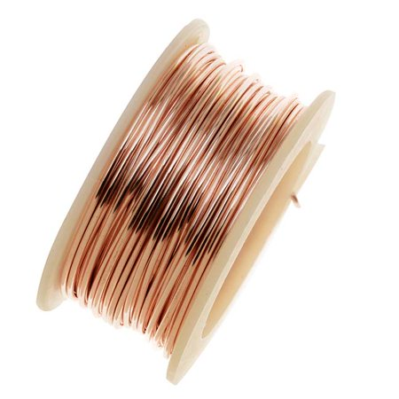 Artistic Wire, Silver Plated Craft Wire 20 Gauge Thick, 6 Yard Spool, Rose Gold Color 20 Rose Gold Filled Wire
