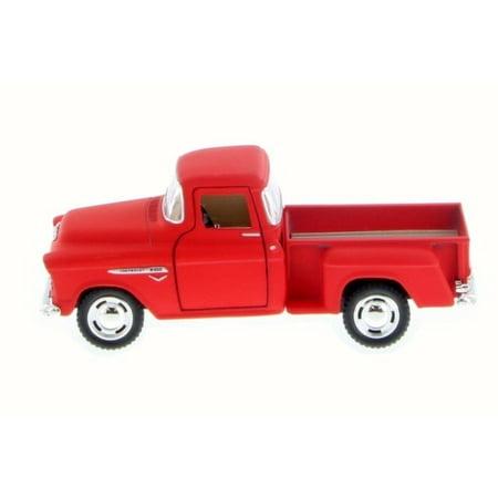 """5"""" Kinsmart 1955 Chevy Stepside 3100 PickUp Truck Diecast Model 1:32 Matte Red"""
