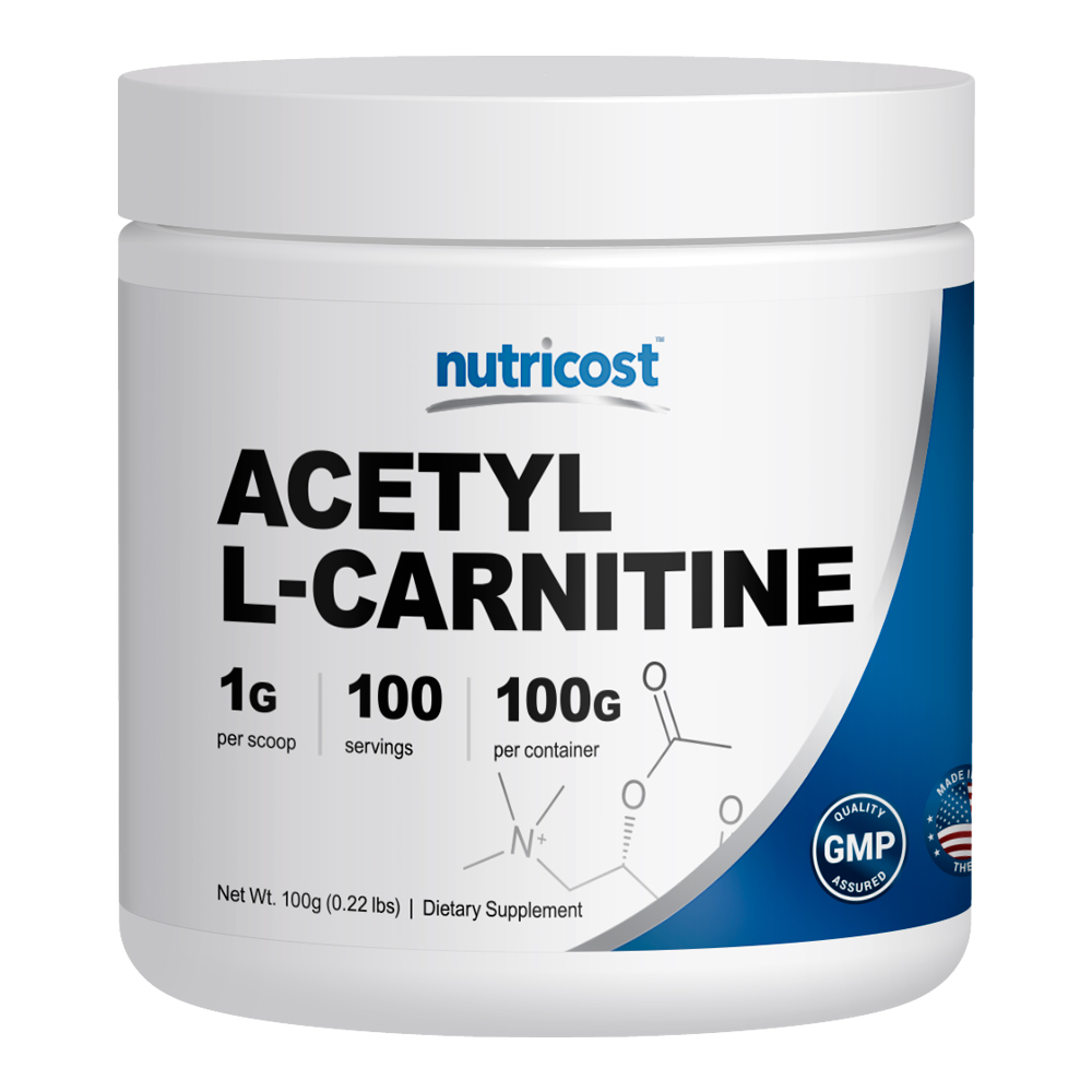 Nutricost Acetyl L-Carnitine (ALCAR) 100 GMS - 1000mg Per Serving - High Quality Acetyl L-Carnitine Powder