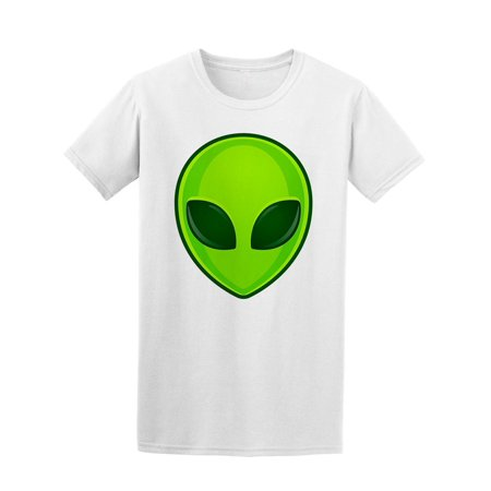 Green Alien Face Emoji Tee Men's -Image by - Printed Alien Face