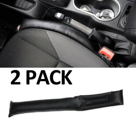 Car Seat Gap Filler 2 PACK Gap Filler Stop the Drop in Car Seat Gap FREE Eyeglass Pouch As Seen on TV (Black)
