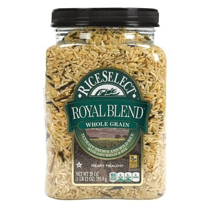 Brown Rice Blend (Rice Select Royal Blend Rice - Whole Grain And Brown - Pack of 4 - 28 Oz.)