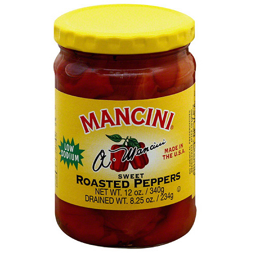 Mancini Sweet Roasted Peppers, 12 oz (Pack of 12)