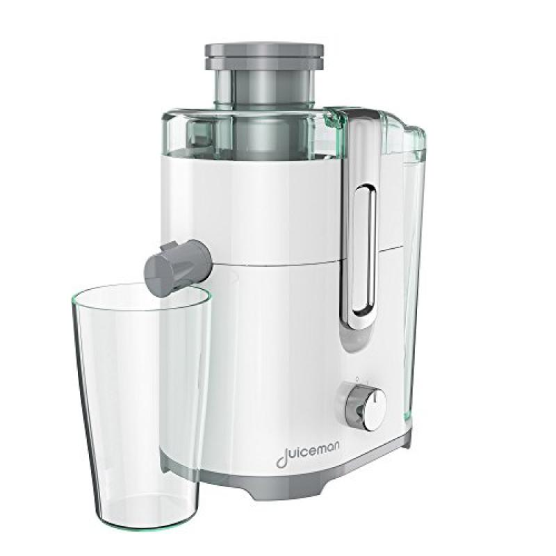 Juiceman JM250 Compact 2 Speed Juicer with 48oz Removable Pulp Container & Bonus 16oz.