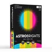 """Astrobrights Color Paper, 8.5"""" x 11"""", 24 lb/89 gsm, Bright Assortment, 500 Sheets"""