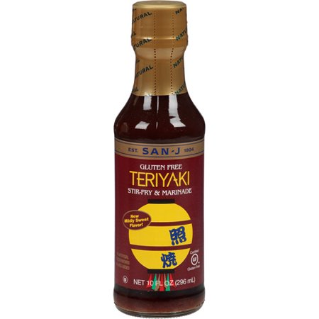 San-J Stir-Fry & Marinade Teriyaki Sauce, 10 fl oz, (Pack of 6)