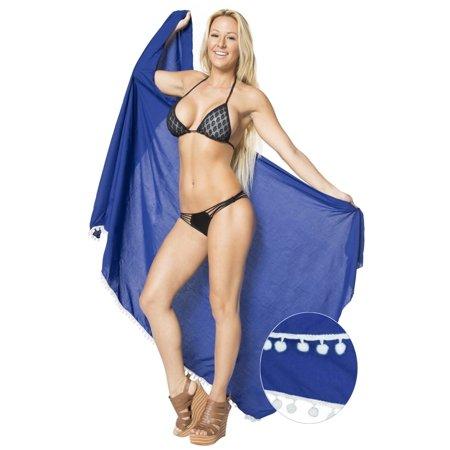 264c092a63 LA LEELA - Sarong Wrap Beachwear Bathing Suit Swimwear Swimsuit Cover ups  Pareo Skirt Women - Walmart.com