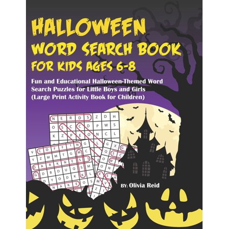 Fun Halloween Words (Halloween Word Search Book For Kids Ages 6-8: Fun and Educational Halloween-Themed Word Search Puzzle Games for Little Boys and Girls (Large Print)