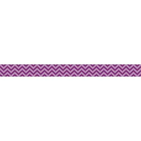 Teacher Created Resources TCR5540 Purple Chevron Straight Border Trim ()