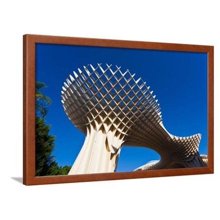 Mushroom structure, Metropol Parasol, Plaza De La Encarnacion, Seville, Andalusia, Spain Framed Print Wall Art