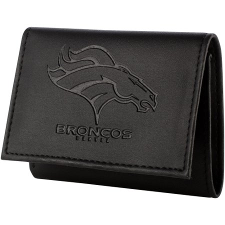 Denver Broncos Hybrid Tri-Fold Wallet - Black - No (Denver Nuggets Wallet)