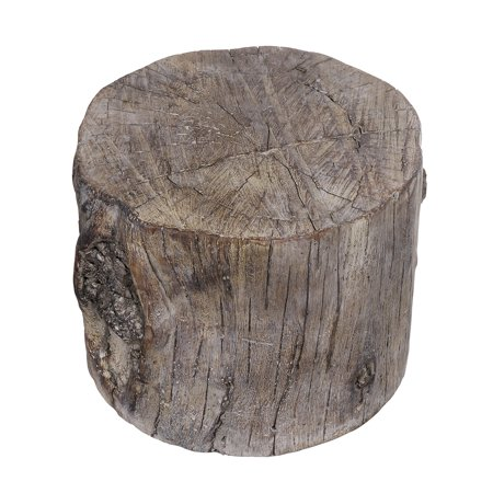 Cement Tree Stump Stool in Round Shape, Small, - Small Tree Stumps