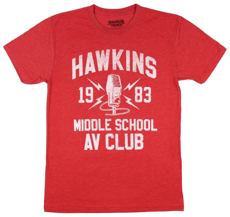 Stranger Things Hawkins Middle School Av Club 1983 Mens T Shirt