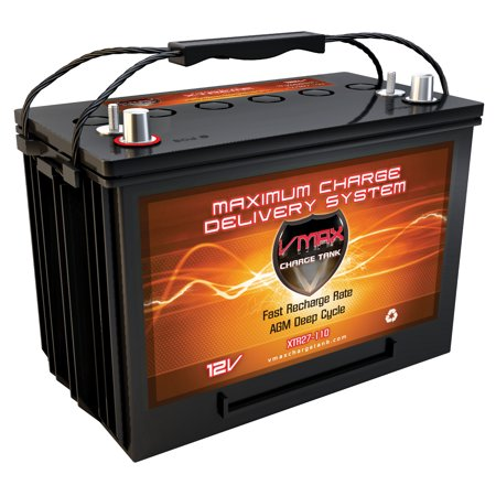 VMAX XTR27-110 Heavy Duty Battery replaces AC Delco M27MF 12V AGM Deep Cycle 110Ah