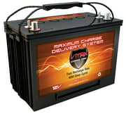 VMAX XTR27-110 AH E-Caddy Golf Cart 12V AGM Battery GRP 27 HICapacity maint free