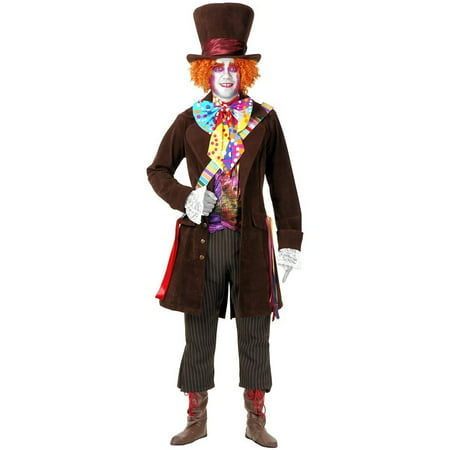 Electric Mad Hatter with Pants Adult Costume - Small (Electric Plug Costume)
