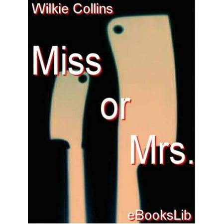 Miss or Mrs - eBook
