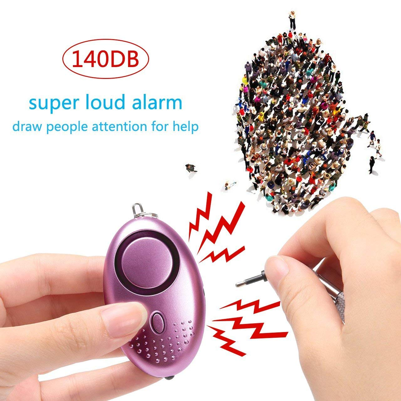 Taiker Personal Alarm For Women 140db Emergency Self Defense