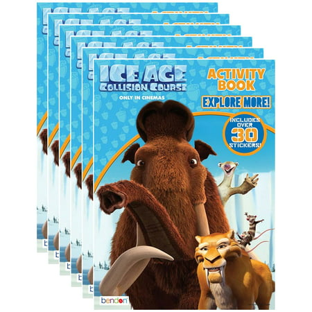 Activity Pack - Ice Age 5 Collision Course 32-Page Coloring and Activity Book with Stickers (Pack of 6)