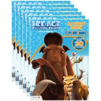 Ice Age 5 Collision Course 32-Page Coloring and Activity Book with Stickers (Pack of 6)