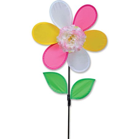 Premier Kite Triple Spinner - Premier Flower Spinner - Peony,  Colorful Garden Yard Outdoor Decor, 12 inches
