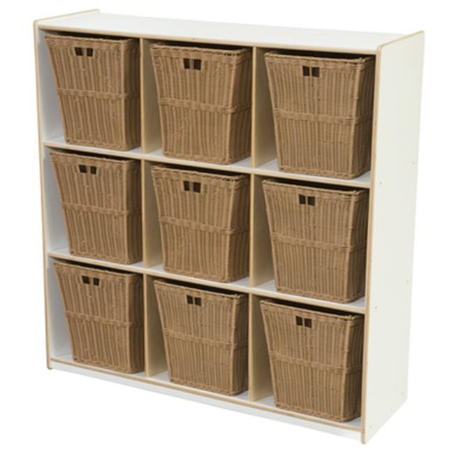 Wood Designs 50900WHT-720 9 Cubby Storage With Large Baskets, White