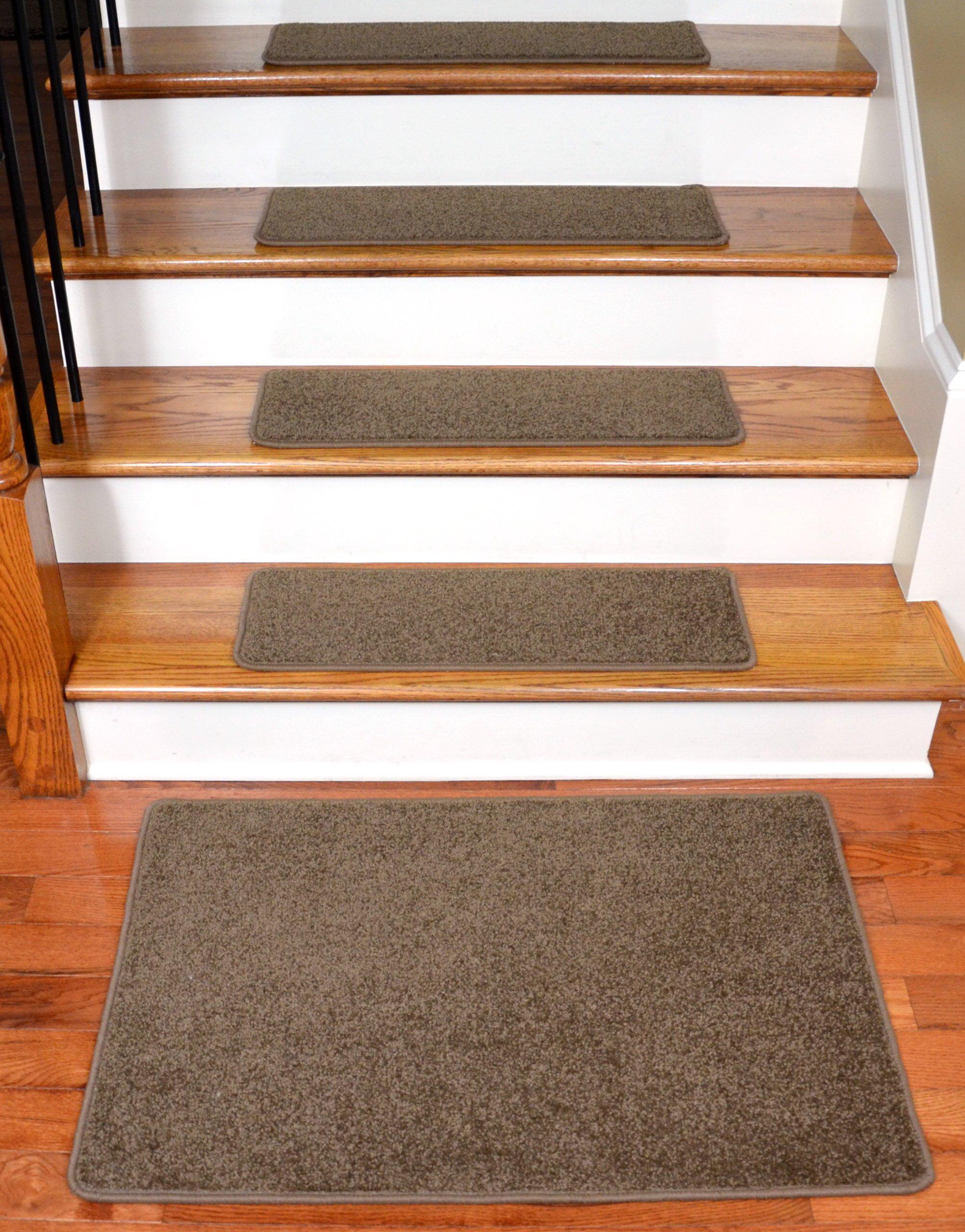 Dean Flooring Company Rich Earth Plush Carpet Stair Tread