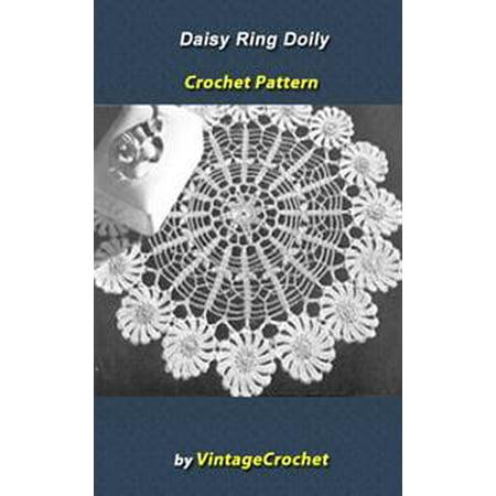 Daisy Ring Doily Vintage Crochet Pattern eBook - eBook