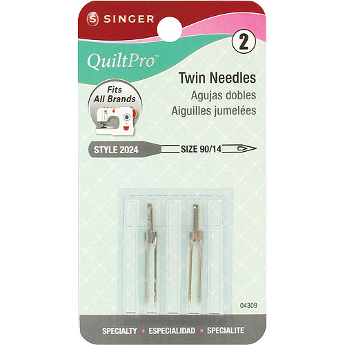Singer Quiltpro Twin Needles, 90/14, 2/Pkg