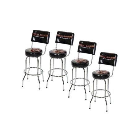 Amazing Harley Davidson Bar Shield Bar Stool With Back Rest Hdl 12204 Set Of 4 Harley Davidson Squirreltailoven Fun Painted Chair Ideas Images Squirreltailovenorg