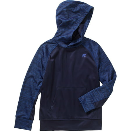 Russell Boys' Marled Tech Fleece Pullover Hoody with Kangaroo ...