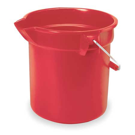 RUBBERMAID FG261400RED Bucket, 14 Qt., Red, - Small Red Buckets