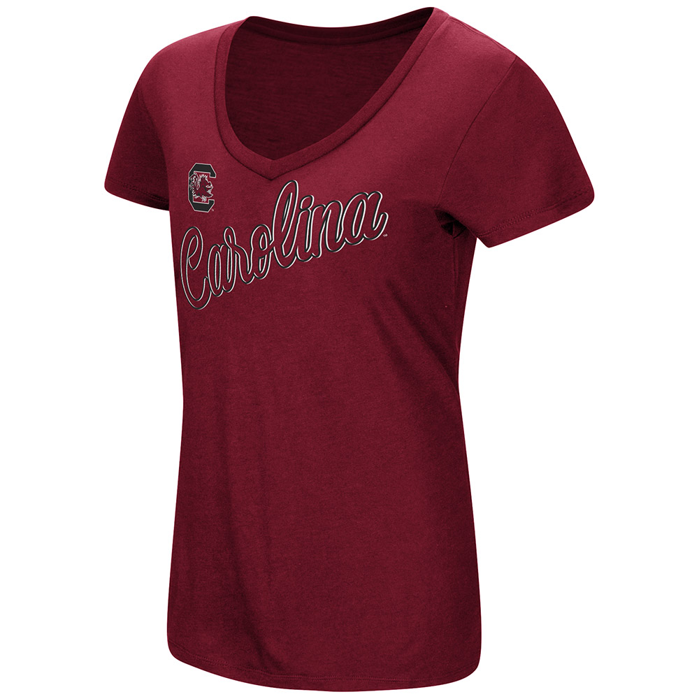 "South Carolina Gamecocks Women's NCAA ""Big Sweet'"" Dual Blend V-neck T-Shirt"