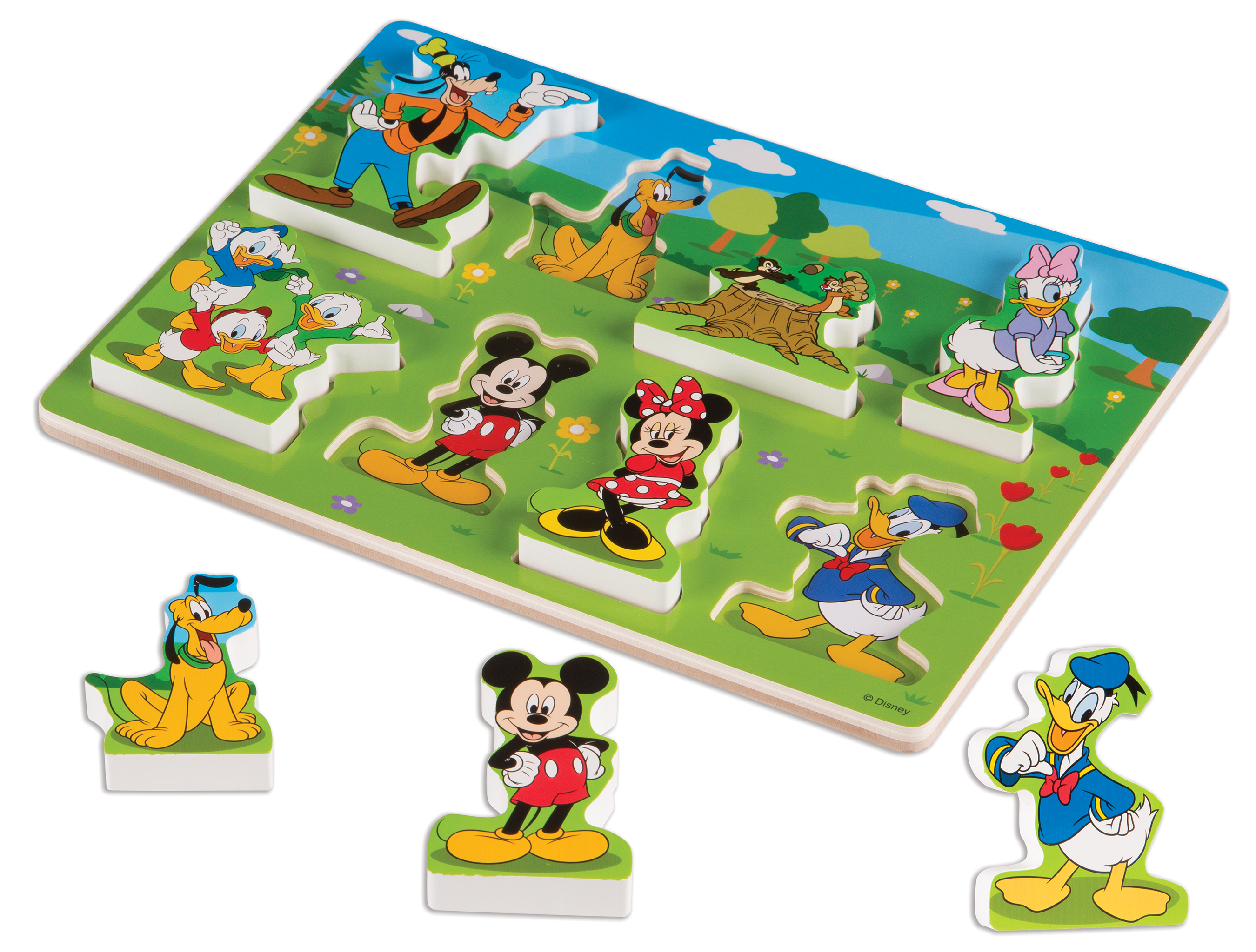 Melissa & Doug Disney Mickey Mouse Wooden Chunky Puzzle (8 pcs) by Melissa & Doug