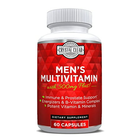 Ultra Multivitamin for Men, Best for Vitamins in Supplements for Men Over 50 Plus, 60 Capsules, 1 Month