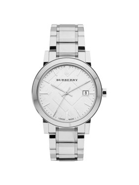 93714f9089f Product Image Burberry Large Check Stainless Steel Mens Watch BU9000