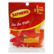 Sathers Ju Ju Fish 12 pack (4.2oz per pack) (Pack of 2)
