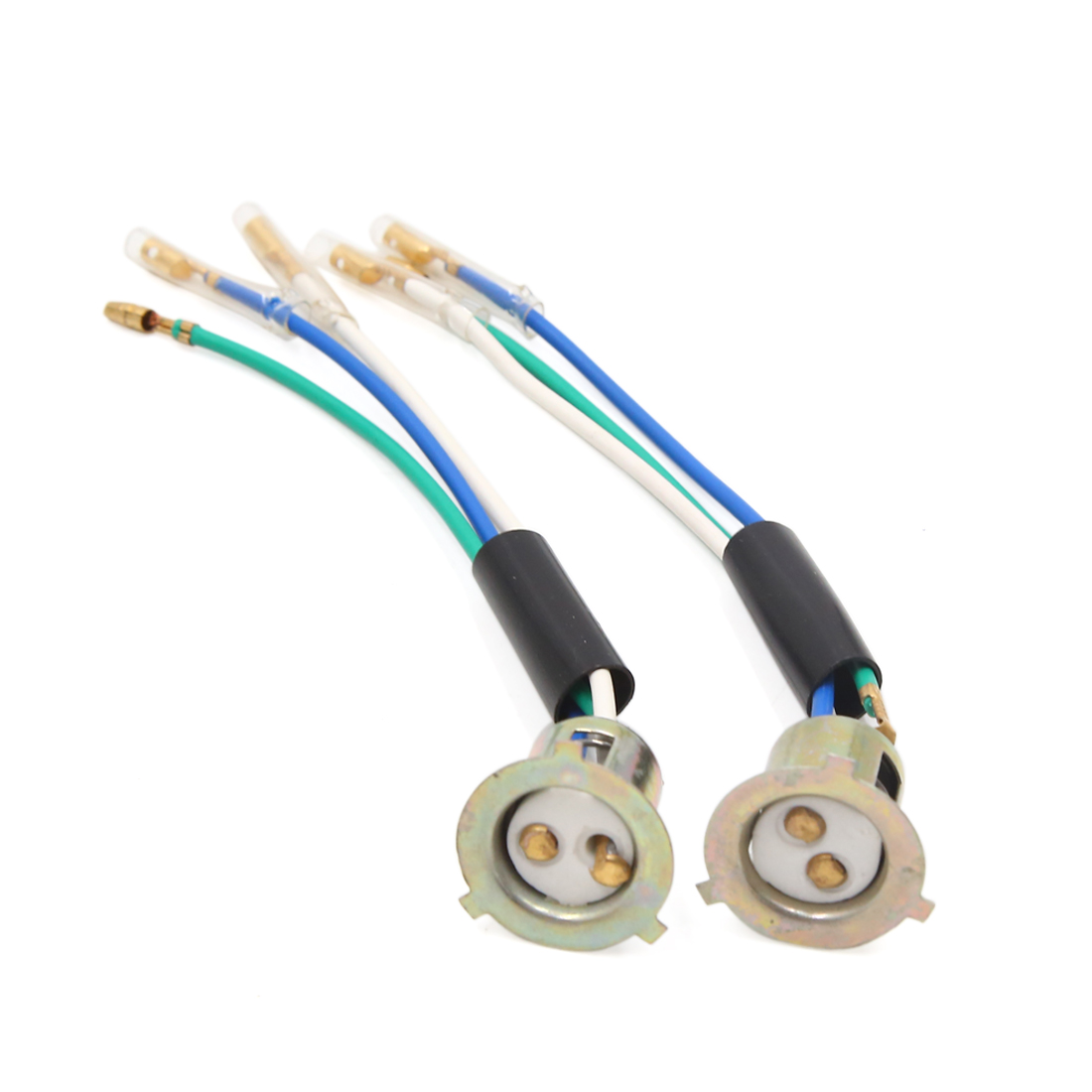 2pcs 3 Wire Motorcycle Headlight Wires Harness Connector Sockets for JH70