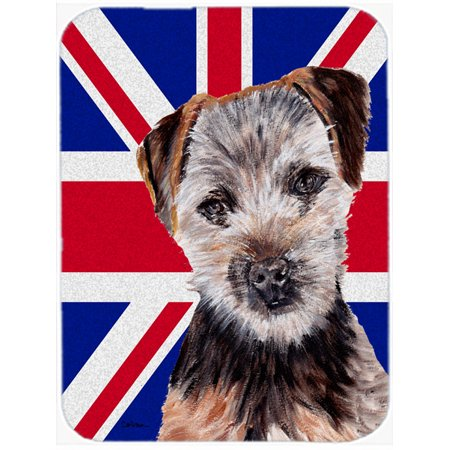 Norfolk Terrier Puppy with English Union Jack British Flag Mouse Pad, Hot Pad or Trivet SC9876MP