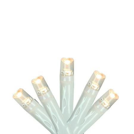 Set of 10 Warm White LED Wide Angle Christmas Lights 4