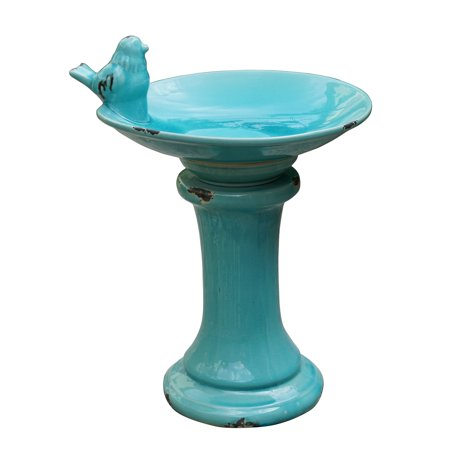 Better Homes & Gardens Costa Mesa Outdoor Ceramic Bird Bath